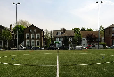 3G football pitch hire south london